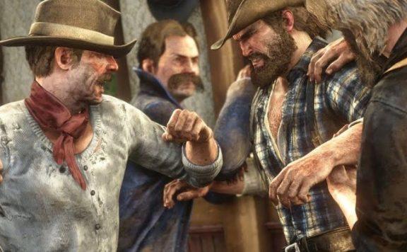 Red Dead Online: Spieler mischt sich mit Axt in Schlägerei ein, kriegt aufs Maul