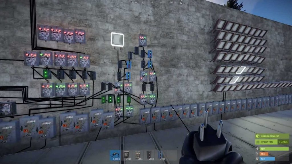 Rust Elektrizität Schalter Chaos