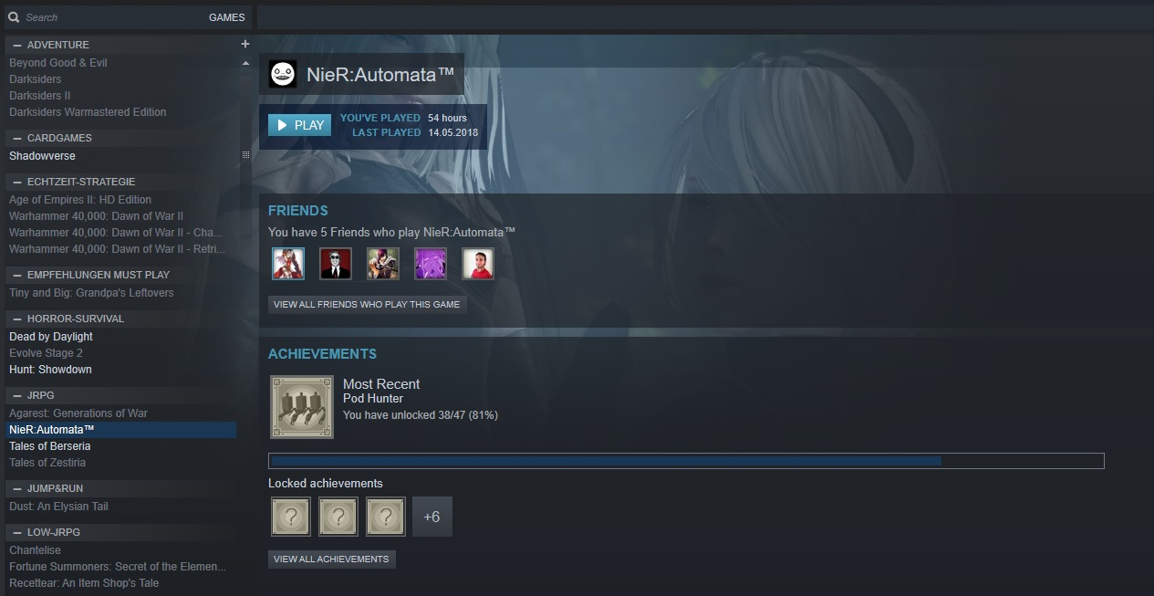 Steam Bibliothek Screenshot