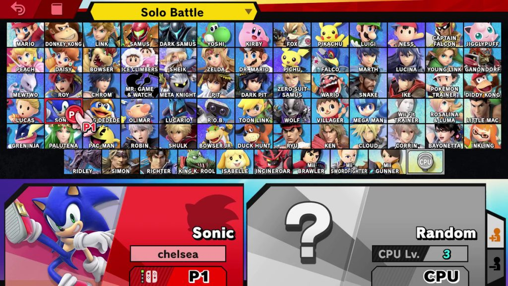 Super Smash Bros Ultimate Charaktere