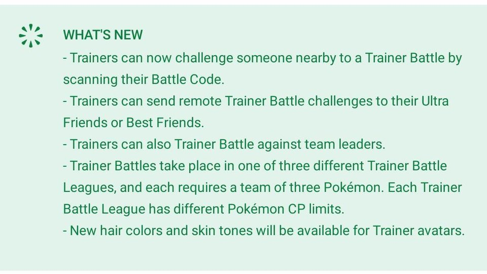 Update Pokemon GO 2