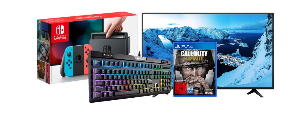 Amazon: Nintendo Switch, UHD-TVs, Gaming-Tastaturen & Spiele reduziert