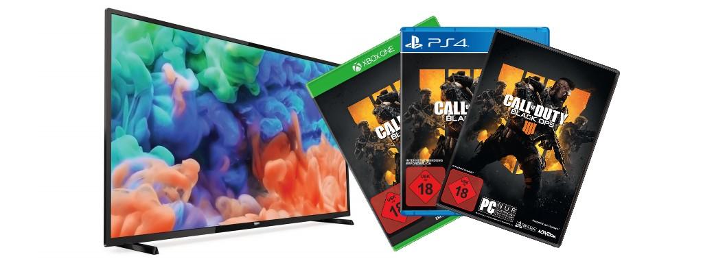 Amazon: Günstiger UHD-TV & Call of Duty: Black Ops 4 zum Bestpreis