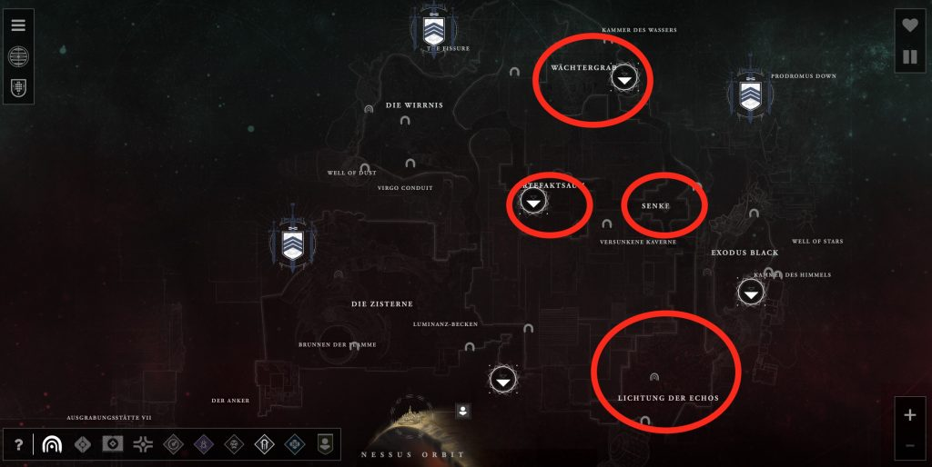d2 mino locations