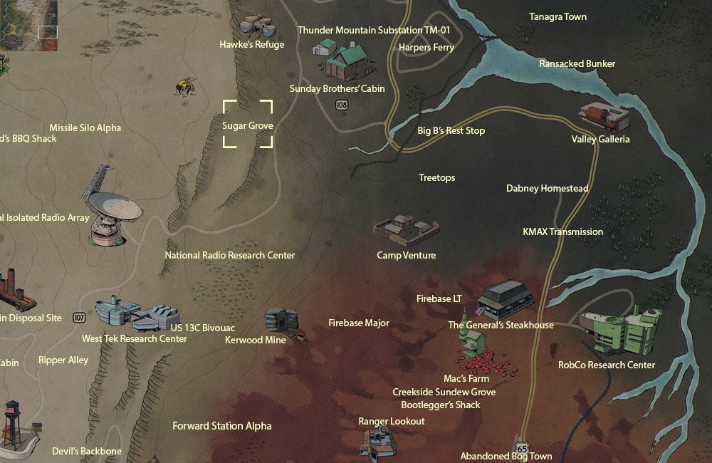 fallout 76 Sugar_Grove_map