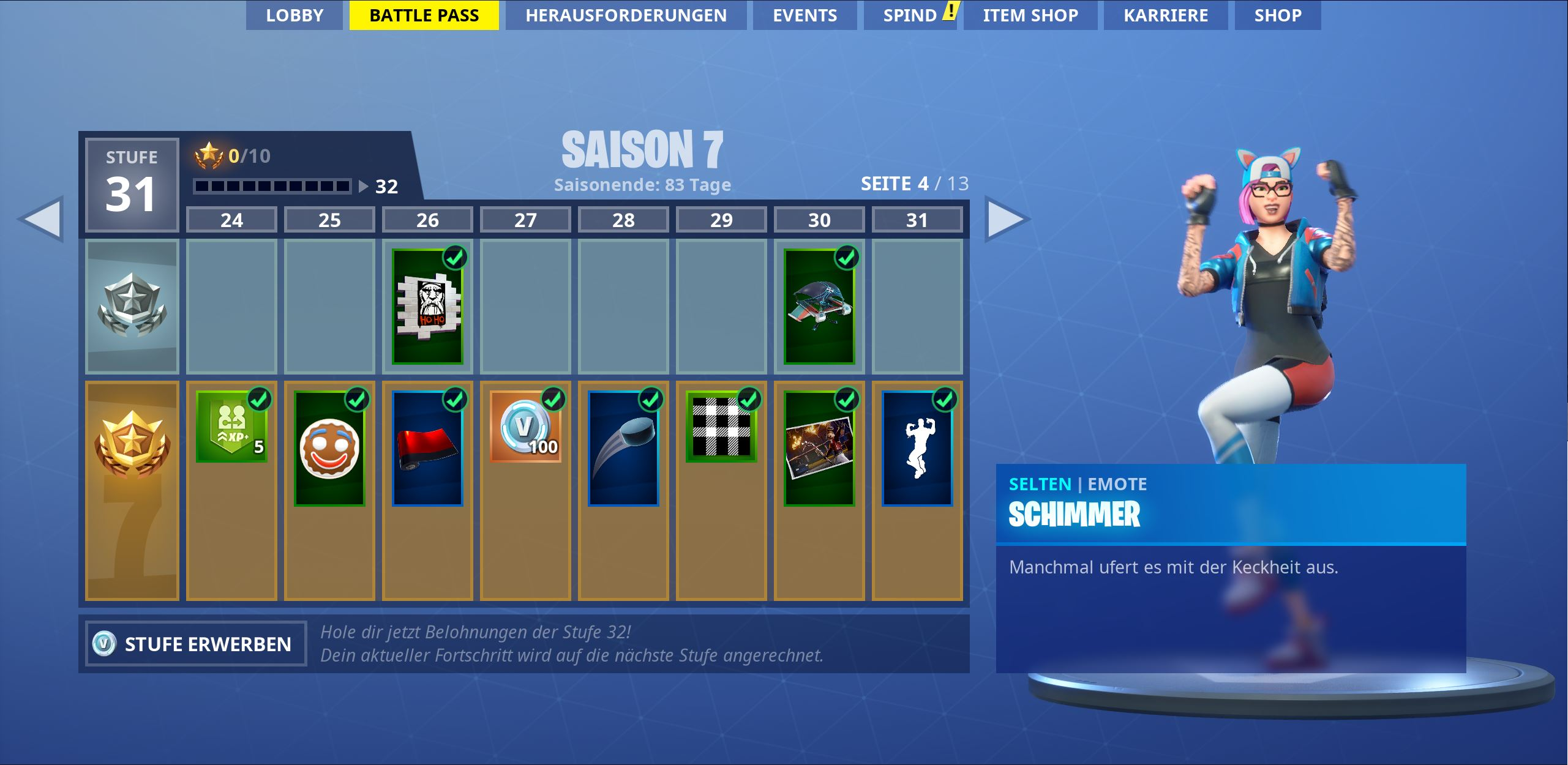 battle pass alle skins und belohnungen der season 7 in fortnite - fortnite season 3 battle pass herausforderung