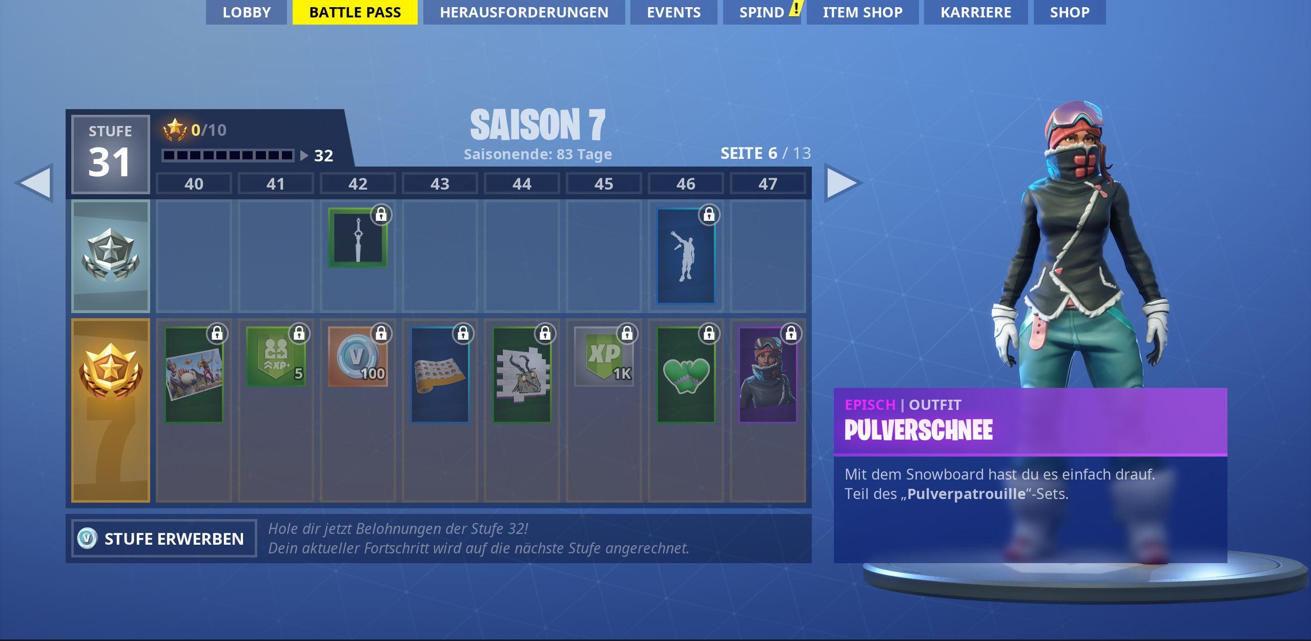 Battle Pass Alle Skins Und Belohnungen Der Season 7 In Fortnite
