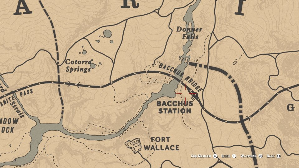 red dead online baccus station