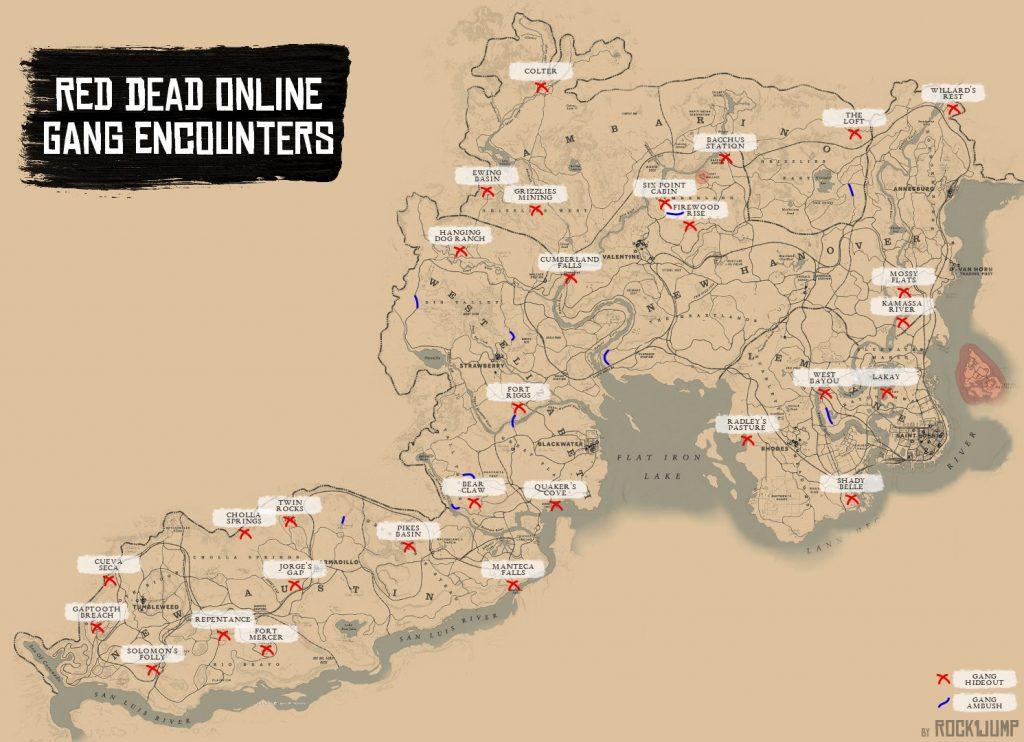 red dead online verstecke