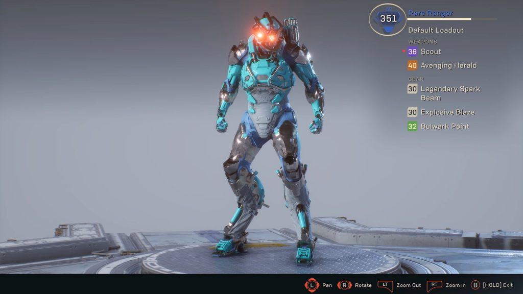 Anthem Javelin Gear Score