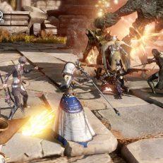 Astellia Kampf im Dungeon mit Gelehrtem