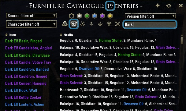 ESO Furniture Catalogue