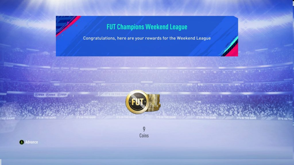 FIFA 19 FUT Champs Rewards 9 Coins