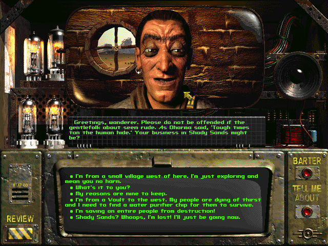 Fallout 1 Dialog
