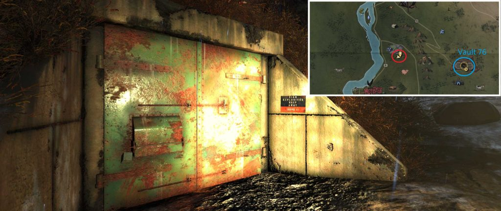 Fallout 76 Alien Blaster TNT Dome 02 mit Karte