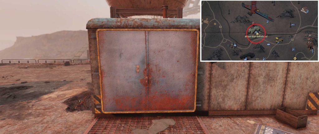 Fallout 76 Alien Blaster TNT Dome Key 02 Fundort Betriebshof mit karte
