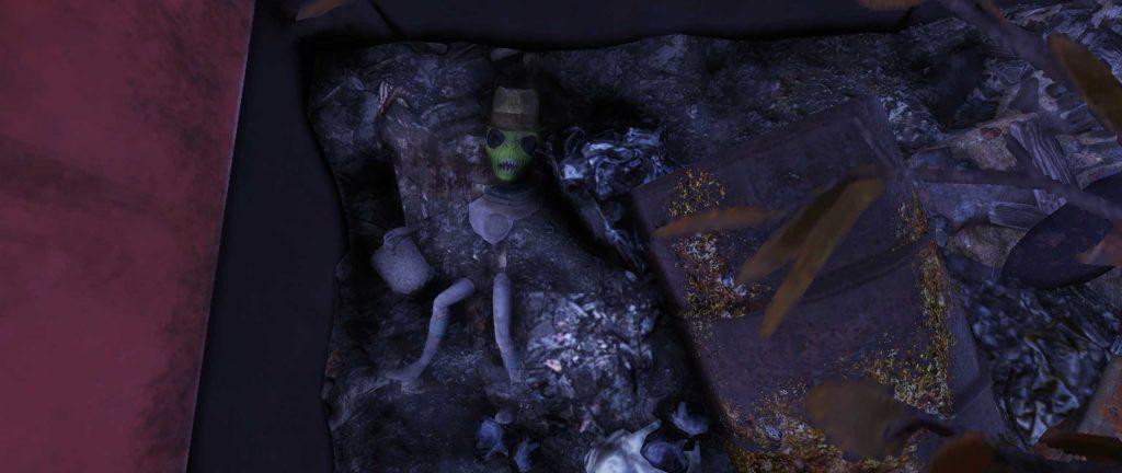 Fallout 76 Alien im Müll