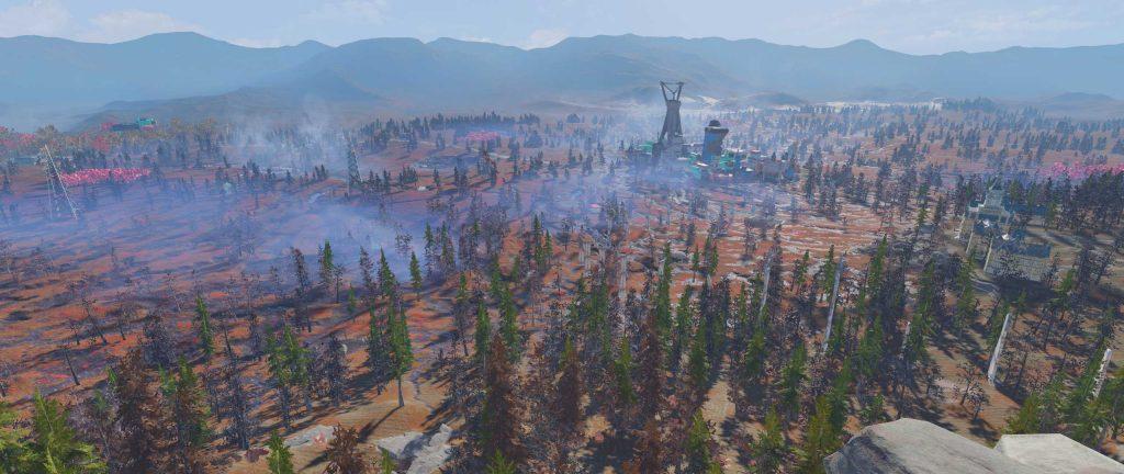 Fallout 76 Aussicht auf den Cranberry Bog