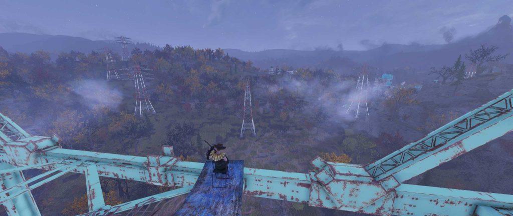 Fallout 76 Aussicht auf den Wald