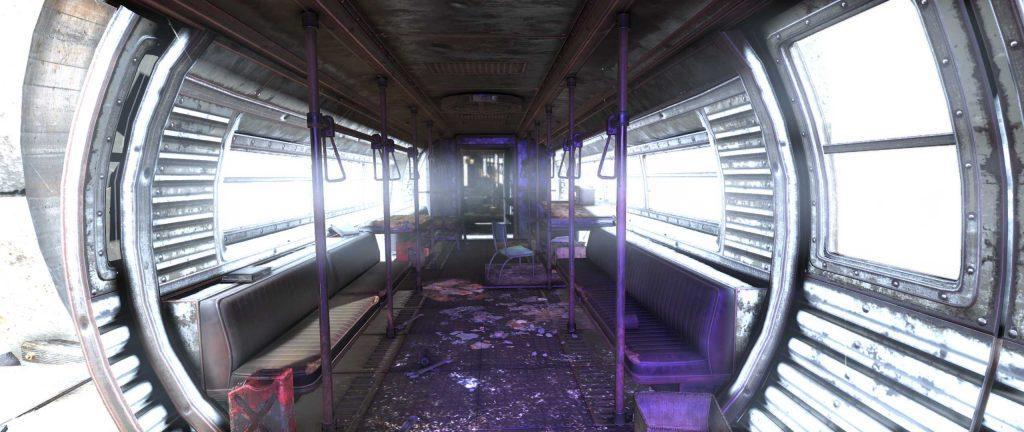 Fallout 76 Pylon V-13 in der Schienenbahn