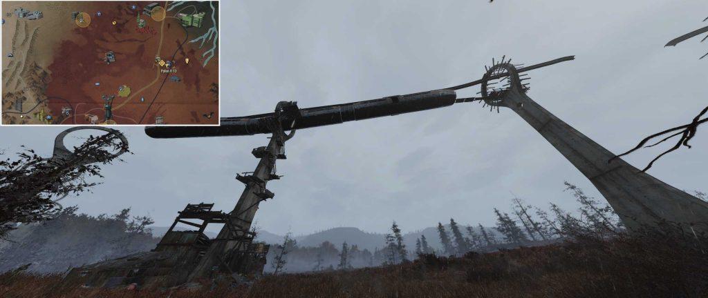 Fallout 76 Pylon V-13 von außen