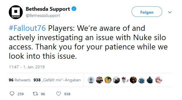 Fallout 76 atombomben bug twitter