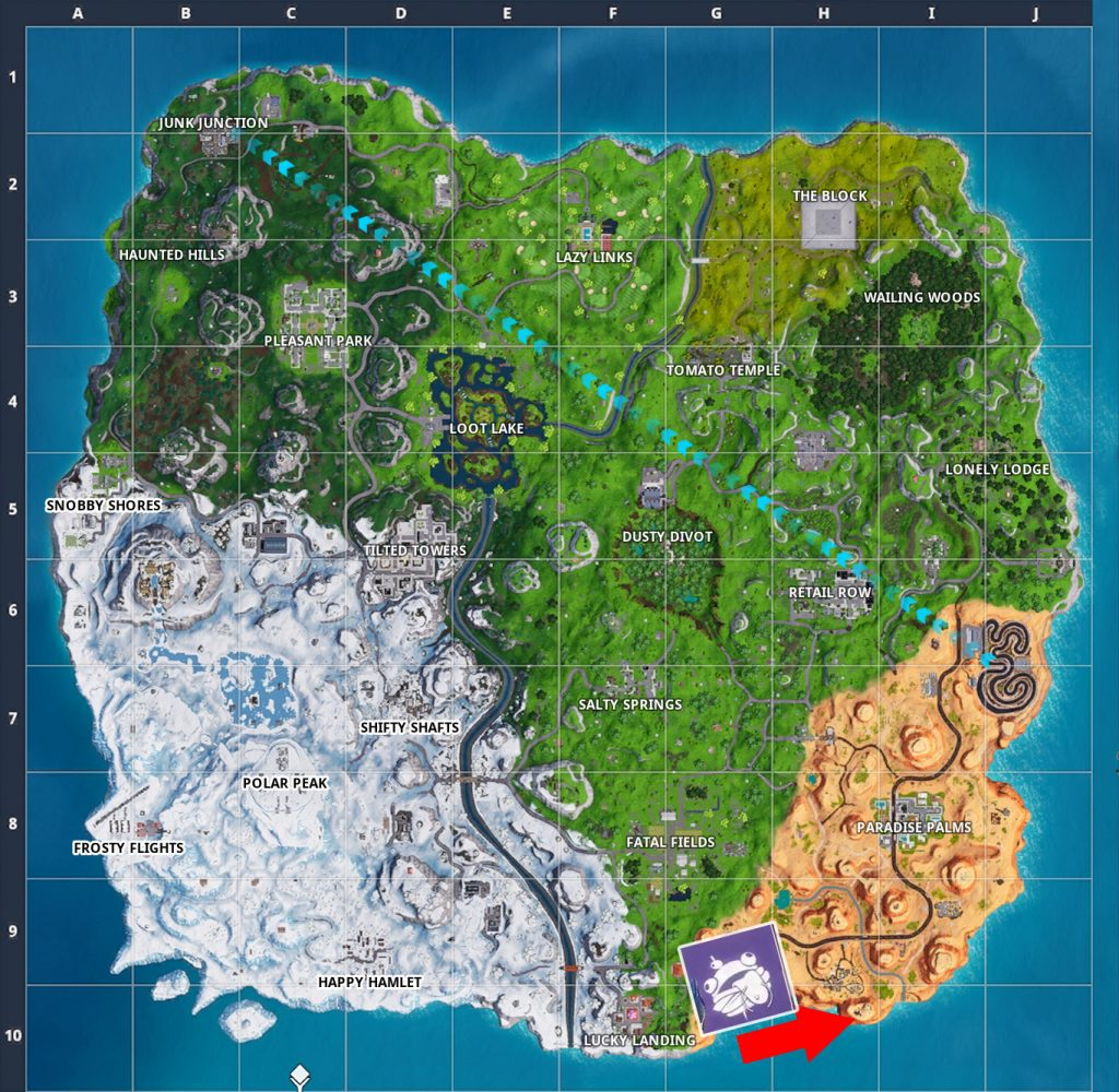 Fortnite Banner Woche 6 Season 7 Karte2