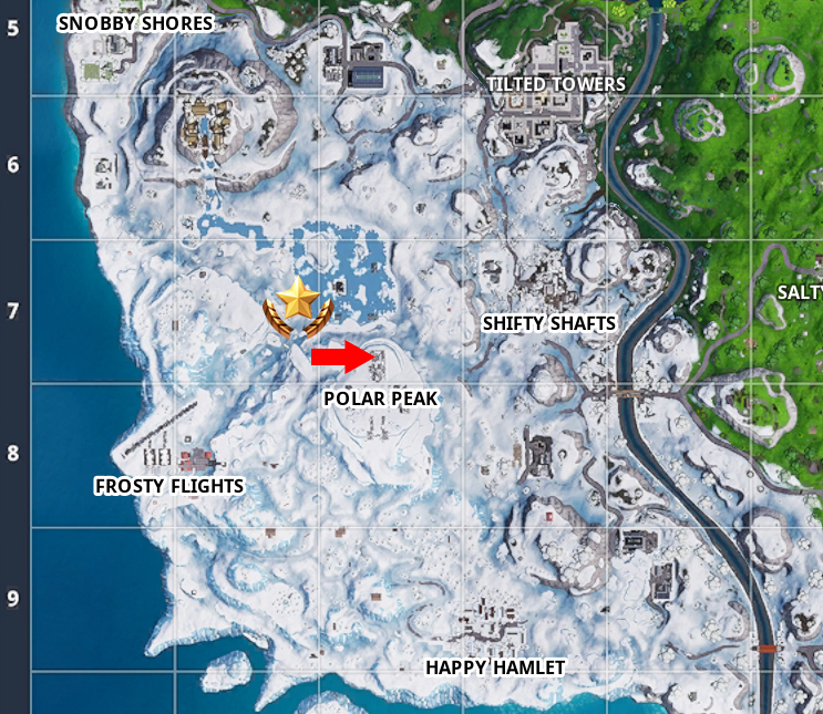 Fortnite Geheimer Stern Map Ort