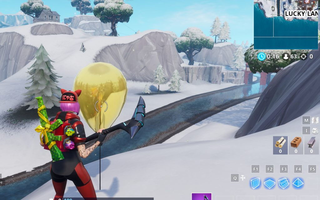 Fortnite Goldener Luftballon Lucky Landing