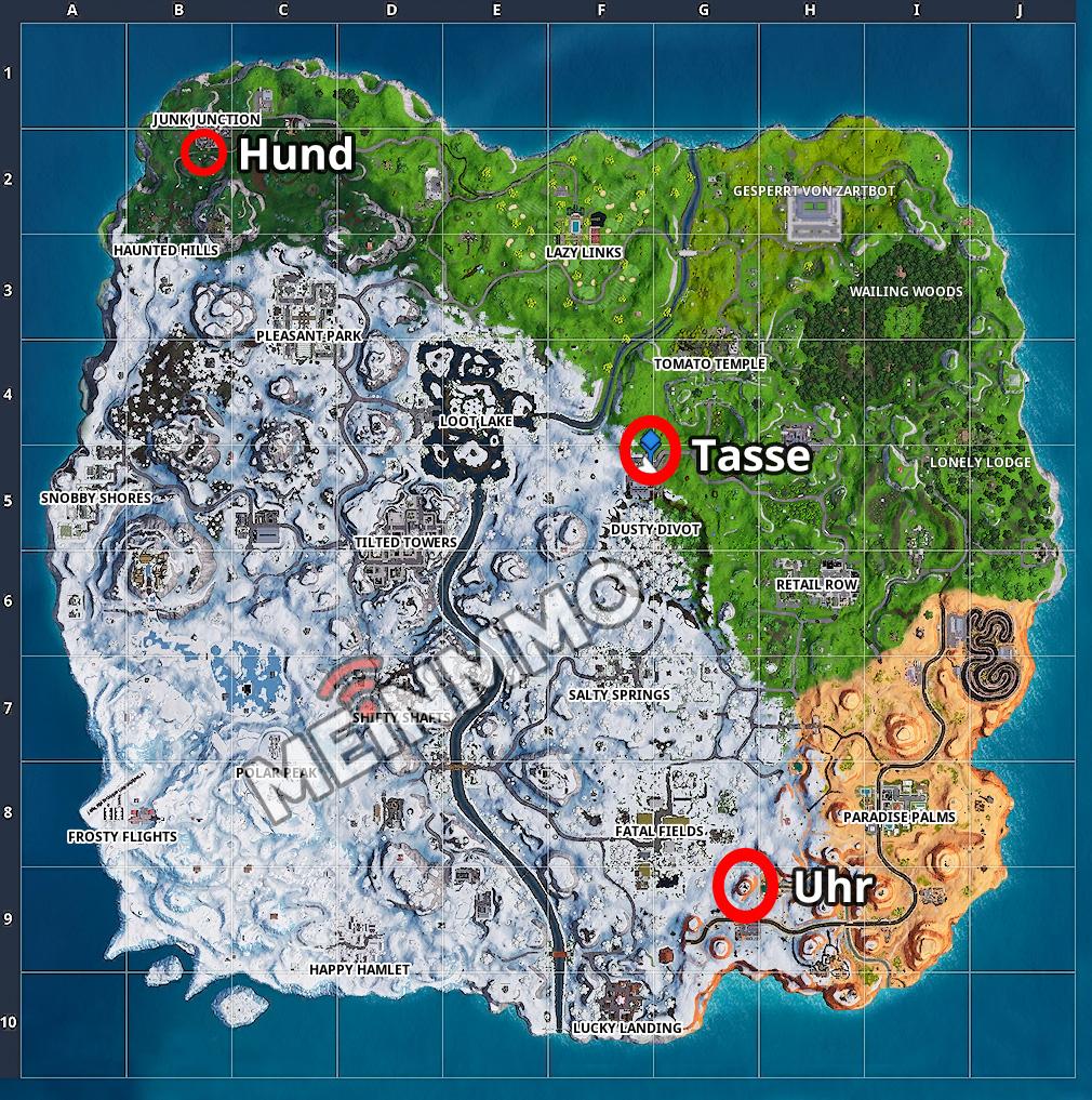Fortnite Season 7 Woche 9 Tanzen Map