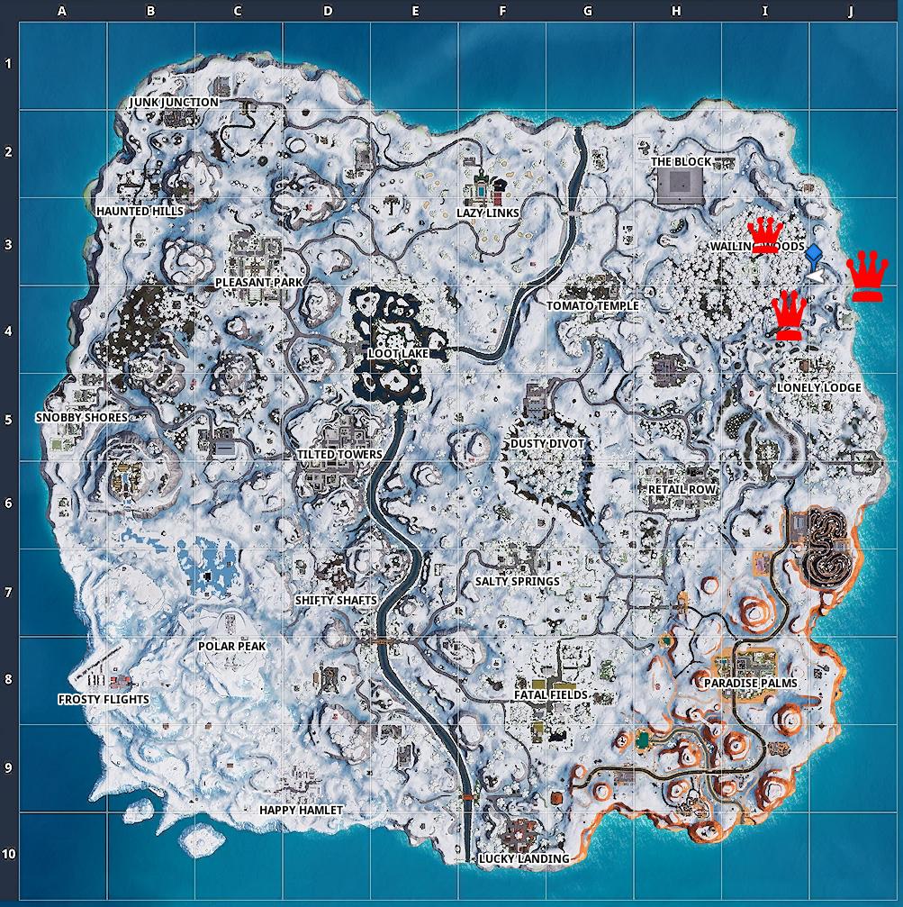 Fortnite Woche 8 Suche Zwischen Map