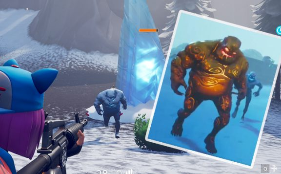 Fortnite goldenes Eisungetüm Titel