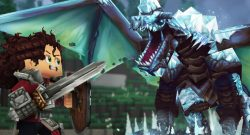 Hytale title Dragon fight