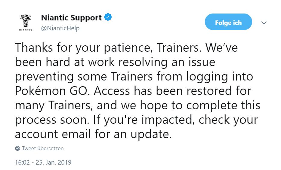 Niantic Twitter Sperre