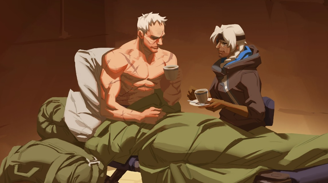 Overwatch Soldier 76 Wounded Ana