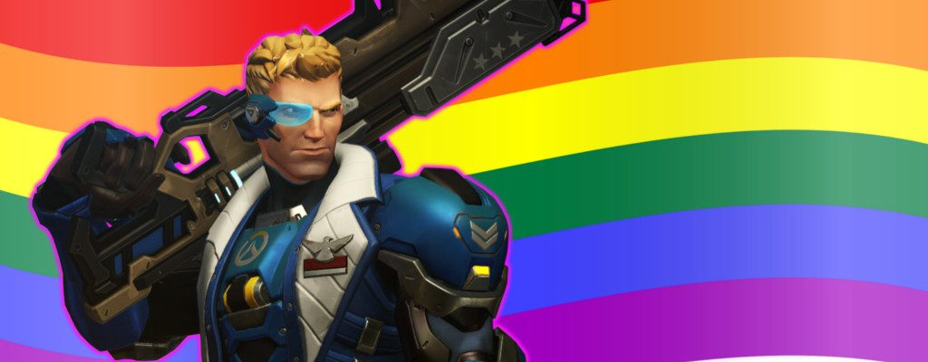 Overwatch Soldier Gay Pride Flag