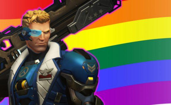 Overwatch Soldier Gay Pride Flag