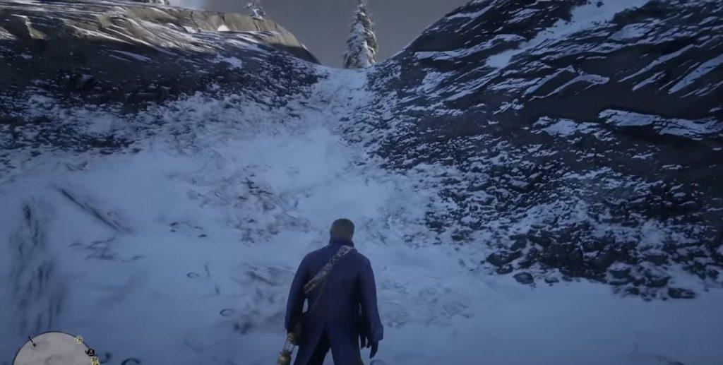 Red Dead Redemption 2 Schnee Weg Berg