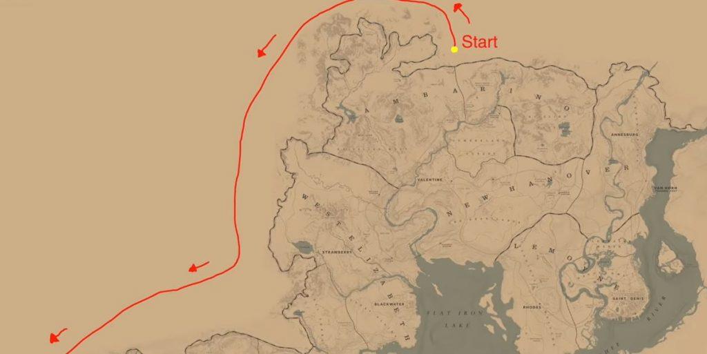 Red Dead Redemption 2 Um die Map