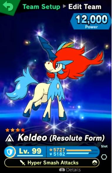 Super Smash Keldeo