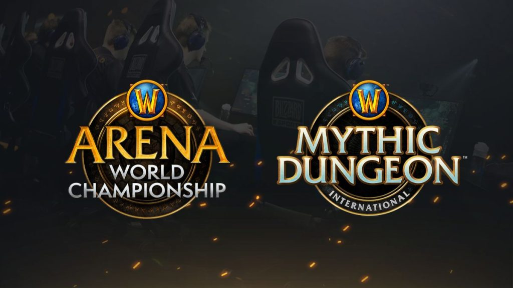 Logos der WoW Arena World Championships und des Mythic Dungeon Invitational