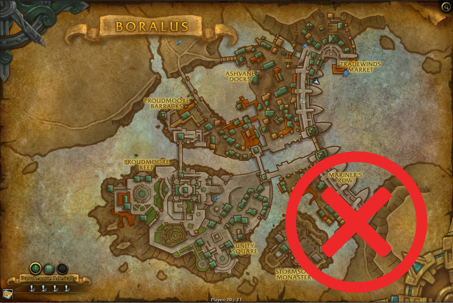WoW Boralus Map Circle Nope
