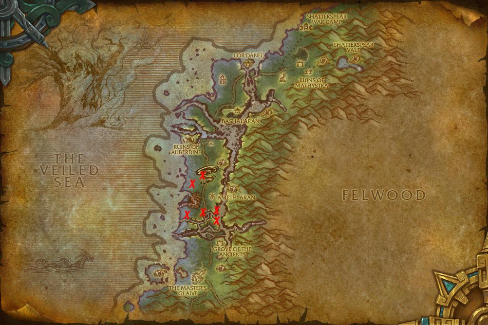 WoW Darkshore Kodo Map