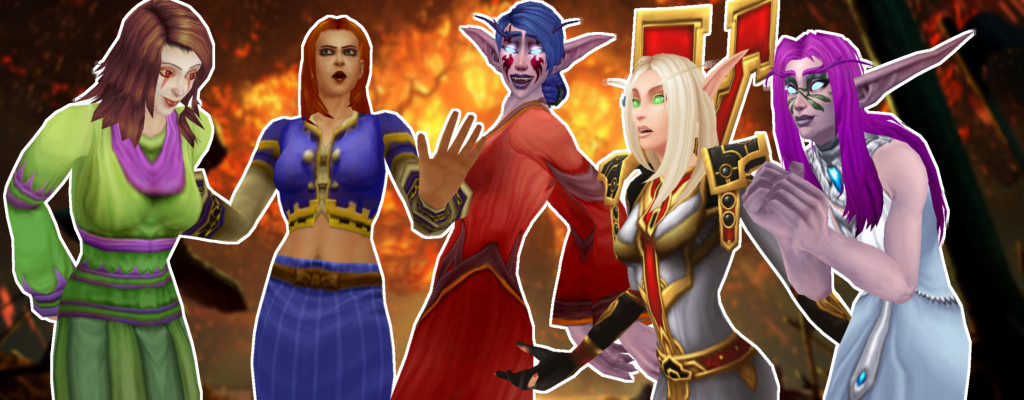 WoW Female mage human night elf blood elf pick women or leave