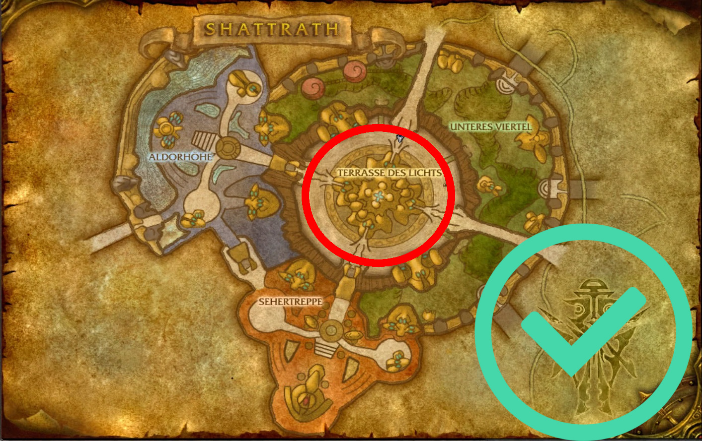 WoW Shattrath Map Circle