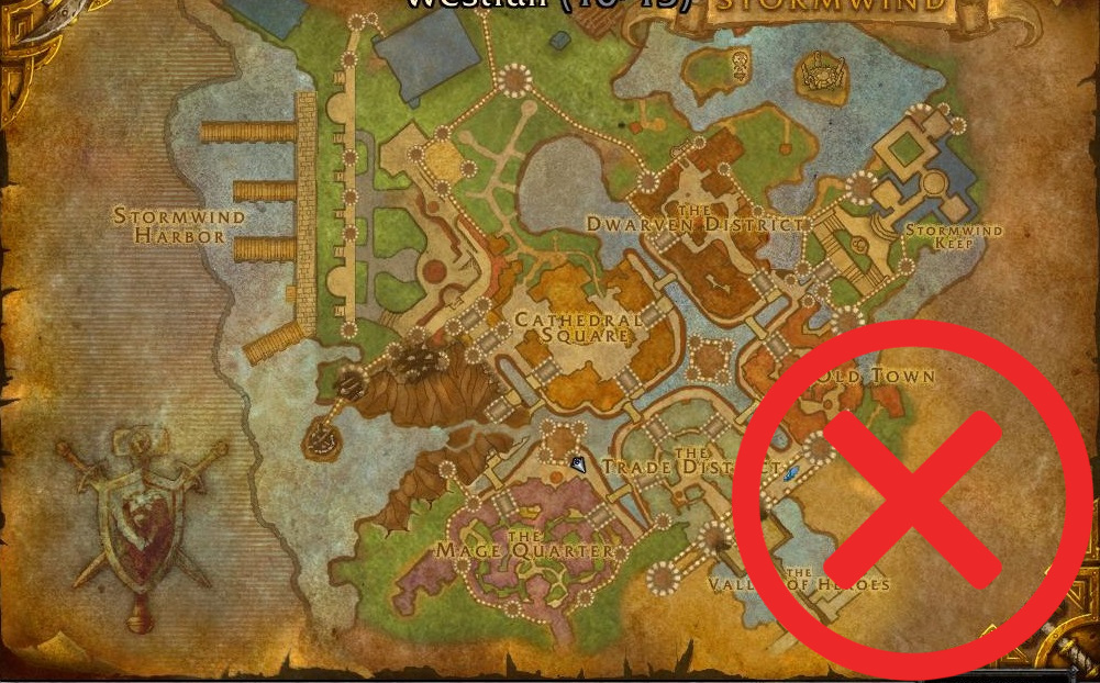 WoW Stormwind Map Cataclysm Circle