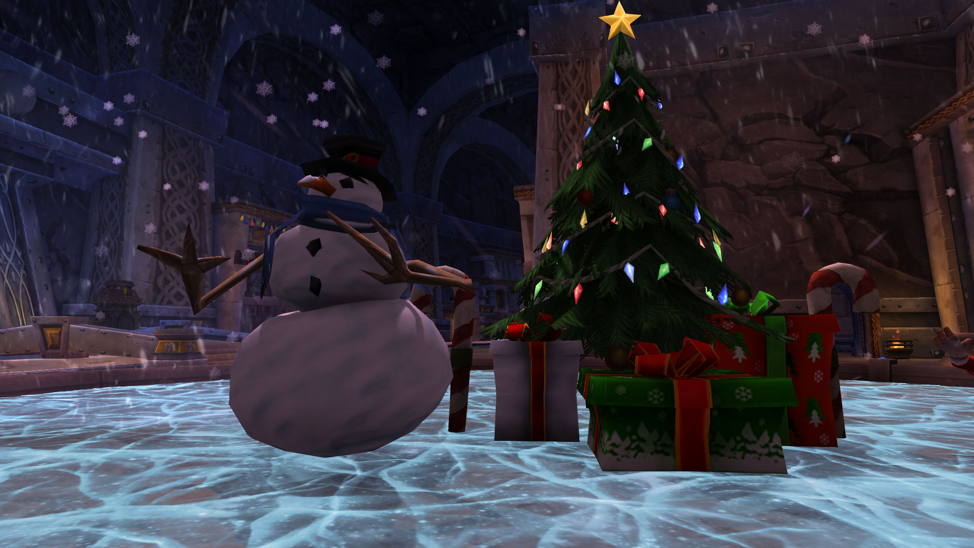 WoW Winter Veil Snow Man Tree