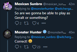 monster hunter world twitter