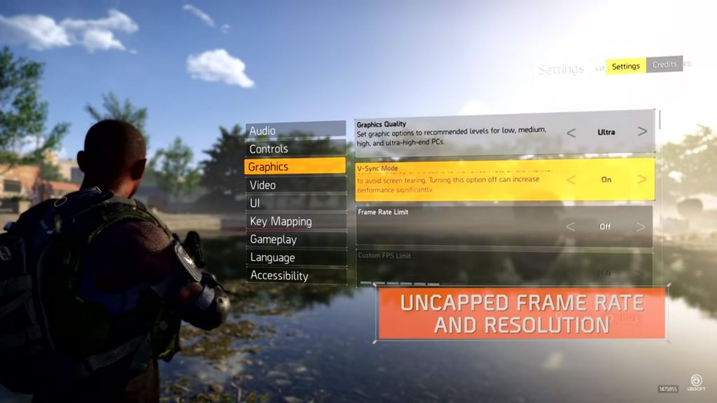 the division 2 grafik settings