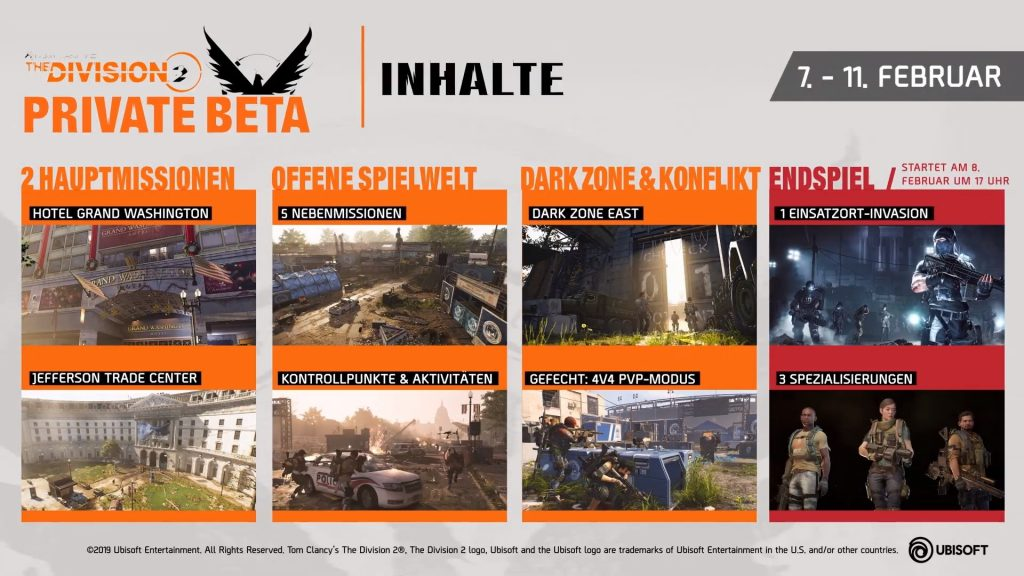 the division 2 private beta inhalte